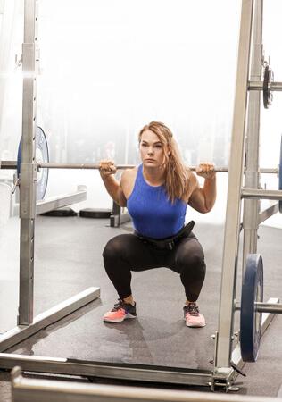 Illustration compétition athlète squat
